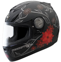Scorpion EXO-700 Black Dahlia Motorcycle Helmet