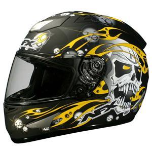 AFX FX-16 Skull Motorcycle Helmet