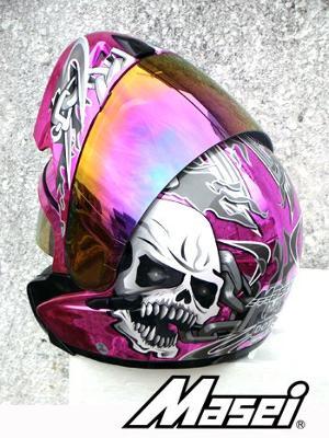 Masei Chrome Skull Helmet